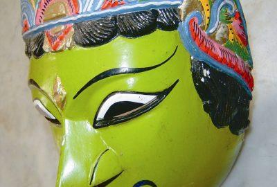 Topeng Panji Asmorobangun yang dipamerkan di Museum Tempo Doeloe Malang (koleksi foto Dwi Cahyono / ppanji.org)