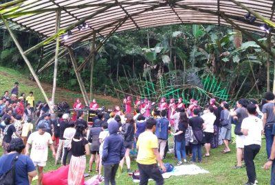 Penampilan Nasida Ria di RRREC Fest In The Valley 2016, Sabtu (10/9), di Sukabumi, Jawa Barat. (Serunai/Idha Saraswati)